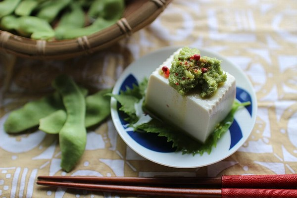 モロッコインゲンフムス豆腐